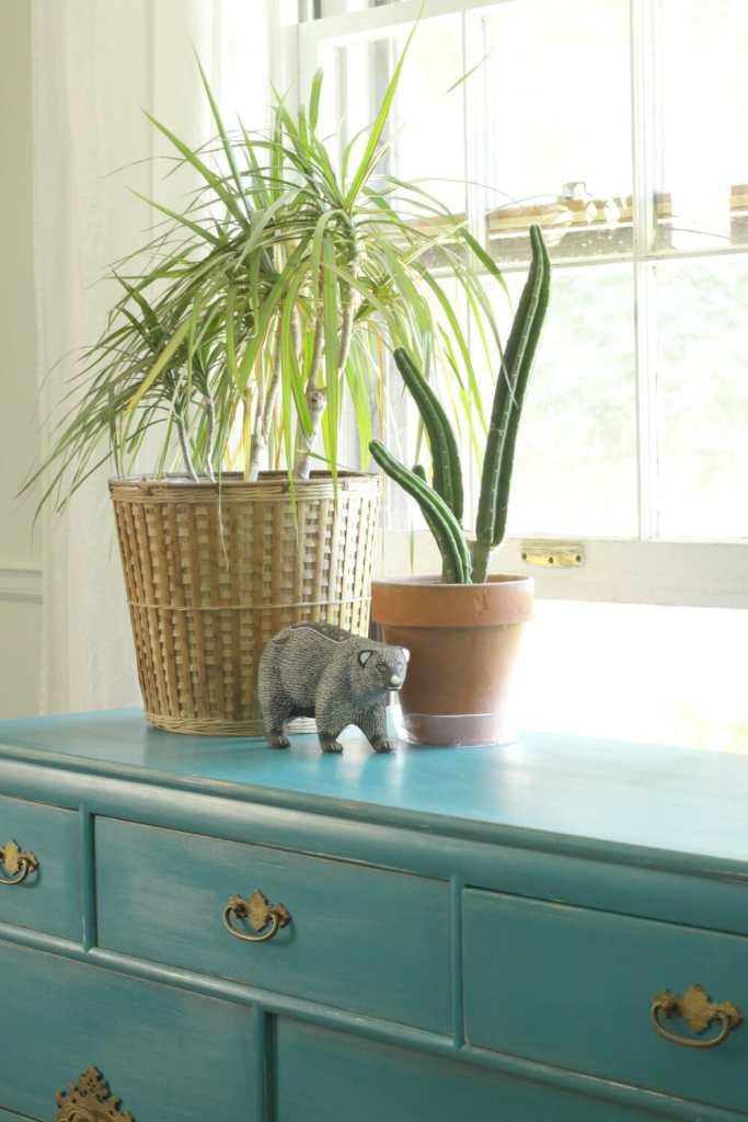 Simple Modern Boho Dresser Styling