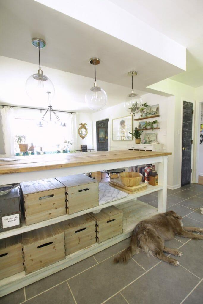 Trend Vintage Industrial Kitchen Island