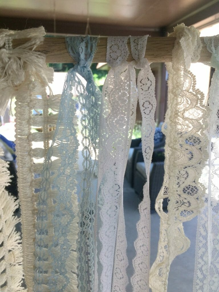 Making a Vintage Lace wall hanging