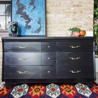 Furniture Makeover: Black Midcentury Dresser and When Black is Be