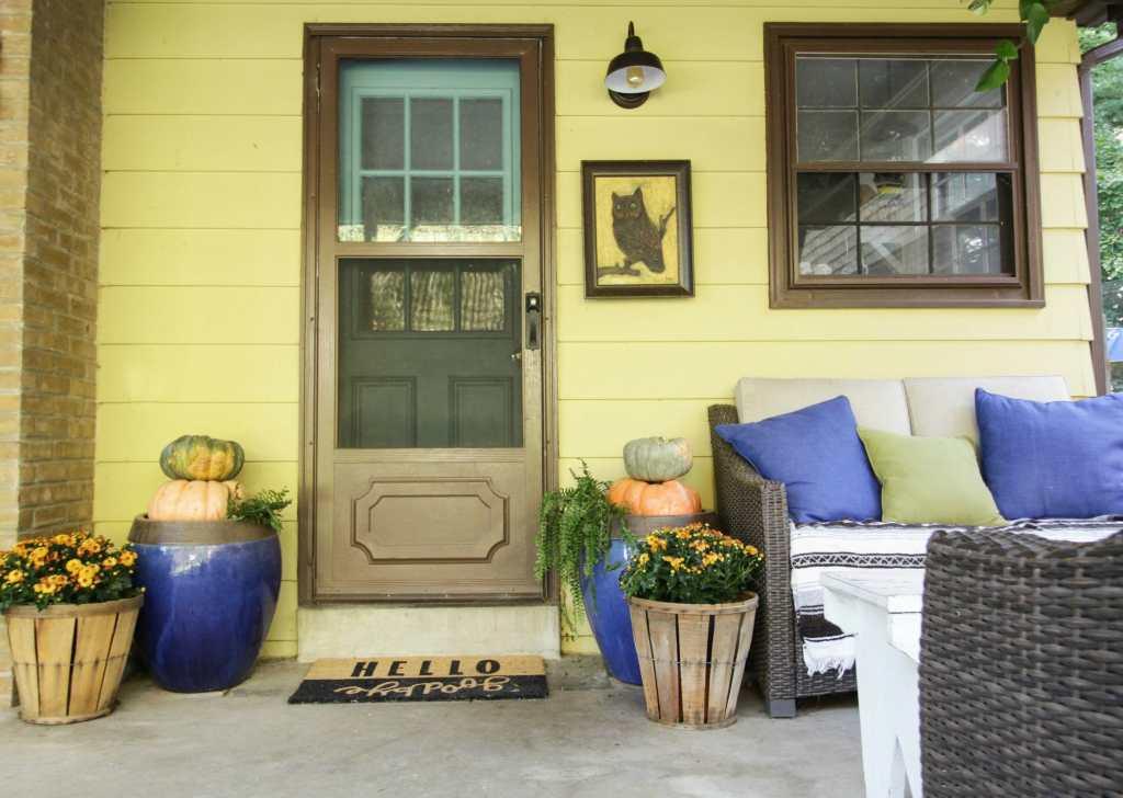 Bohemian Farmhouse Fall Porch Entry