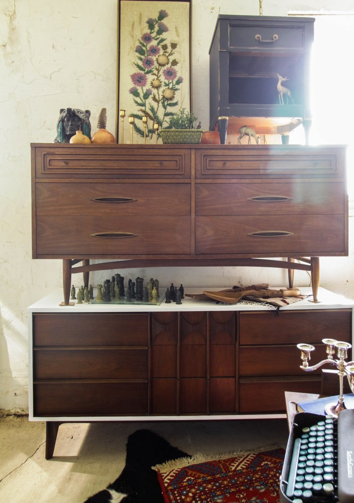 Stacked Midcentury Dressers