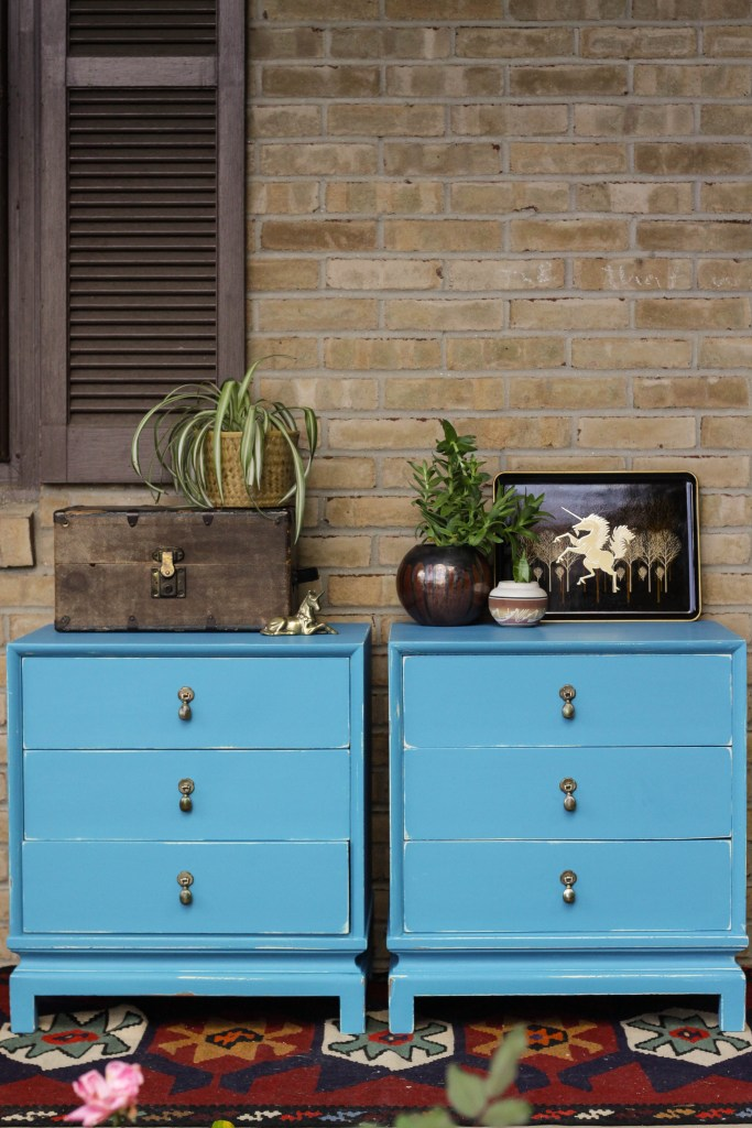 Turquoise Asian Nightstands