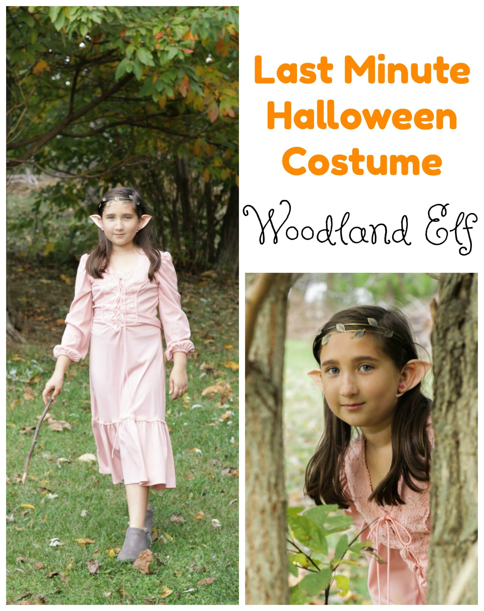 ... minute easy elf costume. You could truly use any longer romantic style dress but let me show you how this all came to be.  sc 1 st  Cassie Bustamante & Last Minute Easy Elf Halloween Costume for Girls or Women - Cassie ...