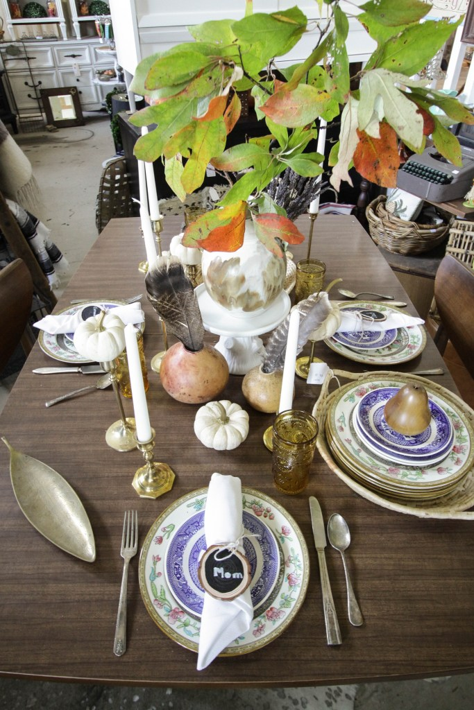 Eclectic Vintage Mixed Dining table- fall style