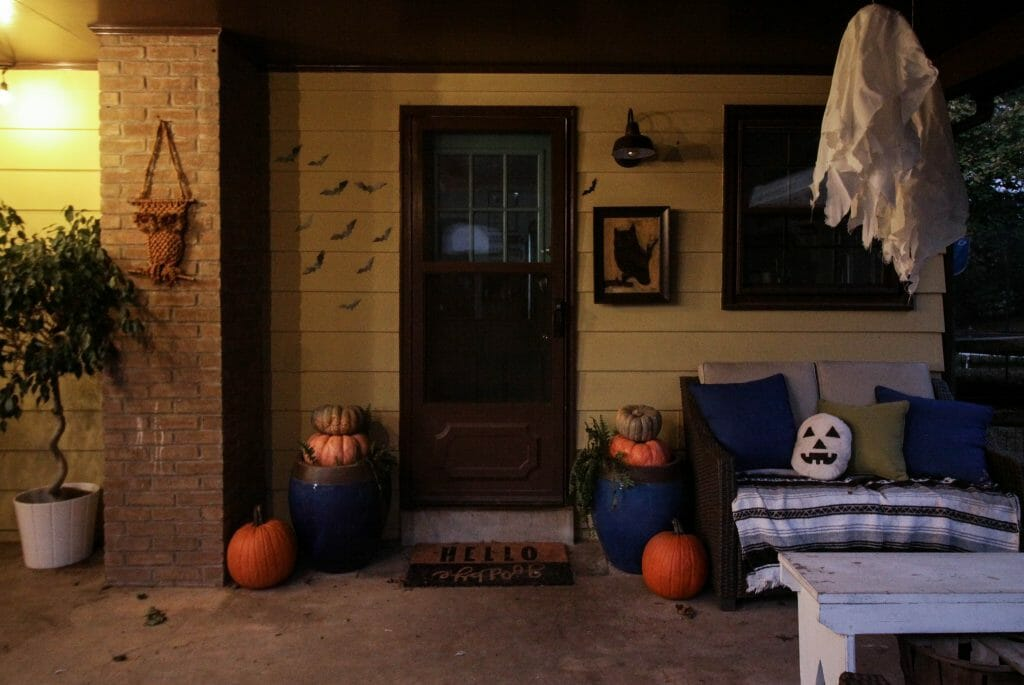 Twilight Halloween Porch