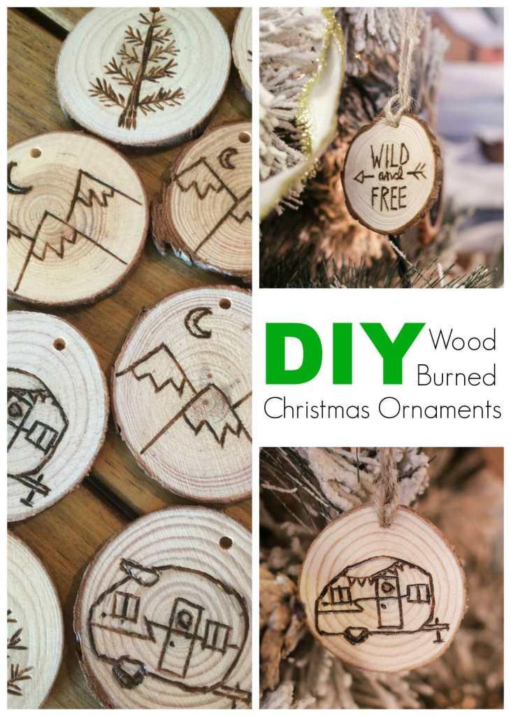DIY Wood Burned Christmas Ornaments