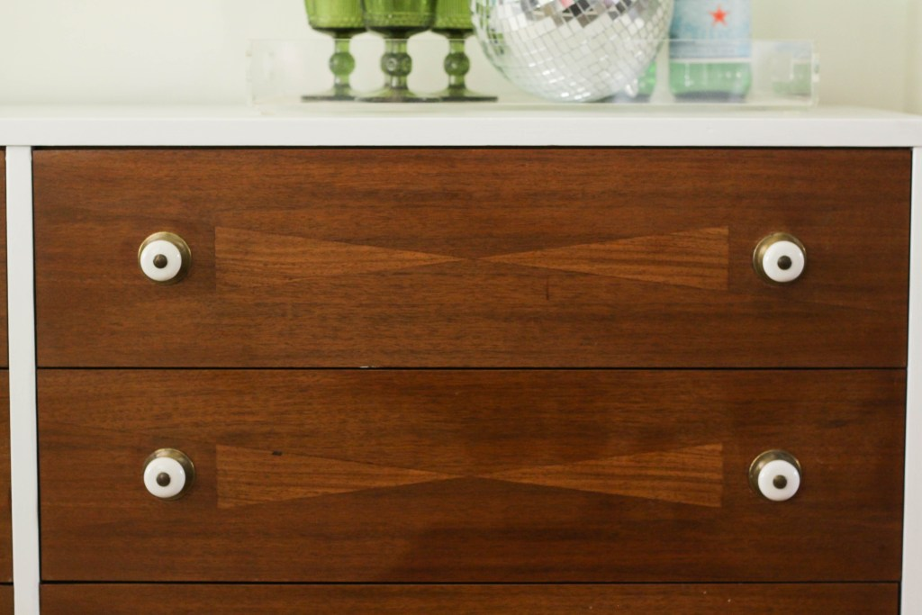 Wood Inlay Design on MCM Dresser