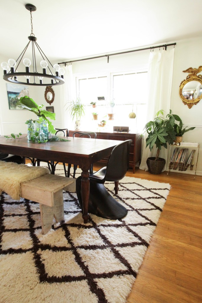 Modern Eclectic Boho Dining Room