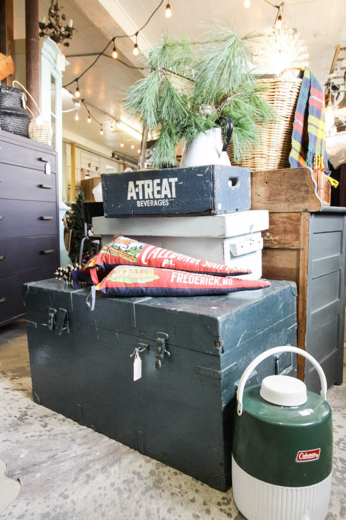 Stacked trunks at Sweet Clover