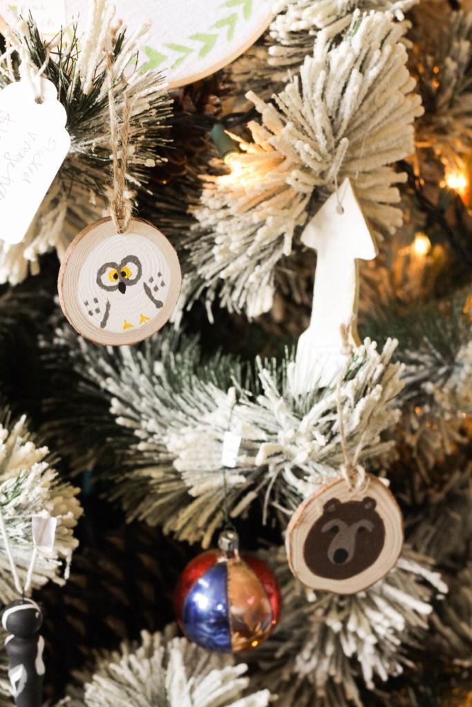 Hand Painted Snow Owl Ornament DIY