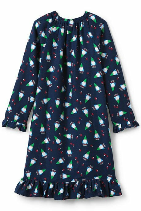 girls flannel gnome nightgown