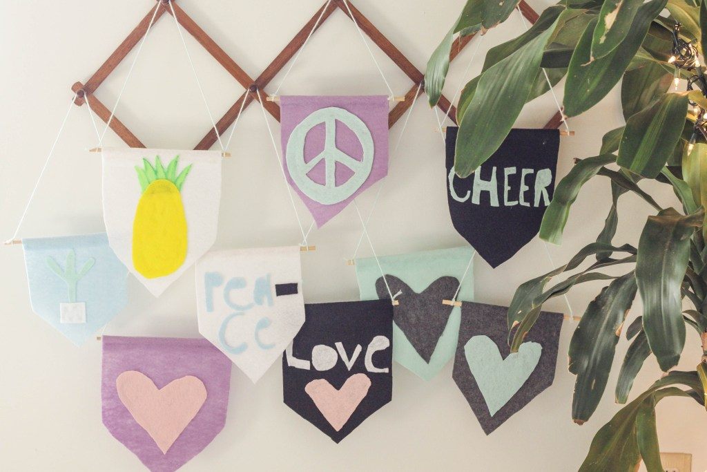 DIY Kids Last Minute Gift Idea- Felt Flag