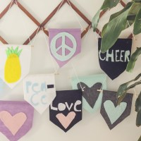 Last Minute DIY Gift Idea for Kids to Give Friends: Simple Felt Flags