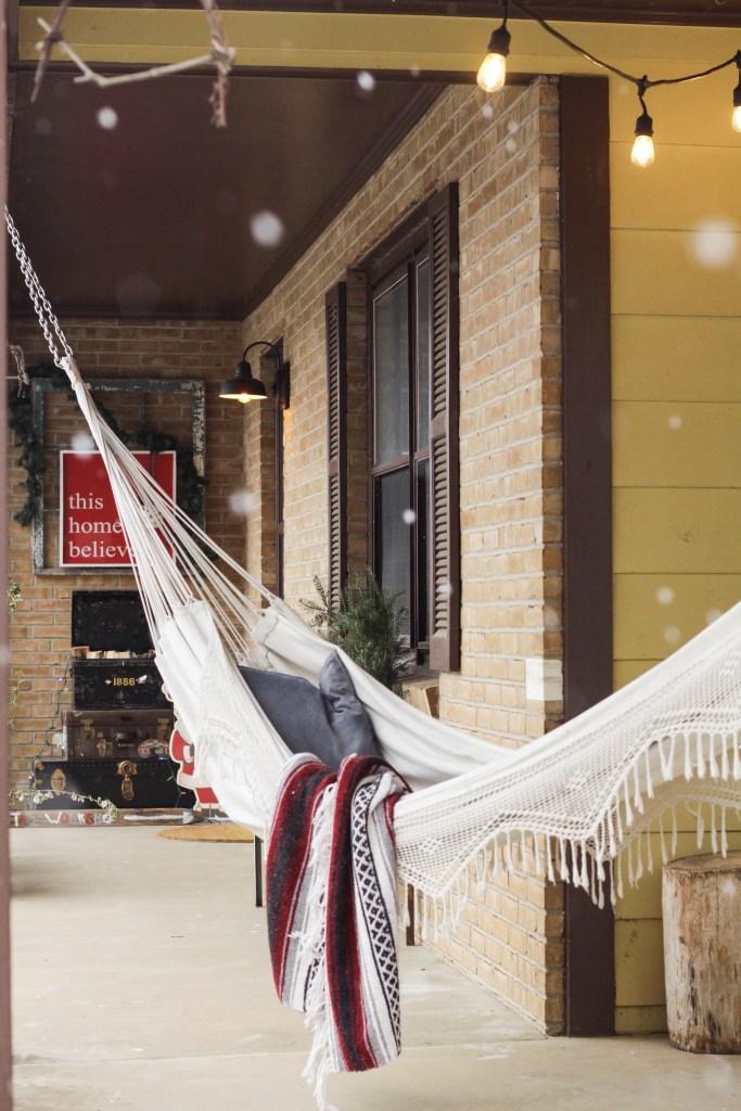 Eclectic Christmas porch decor
