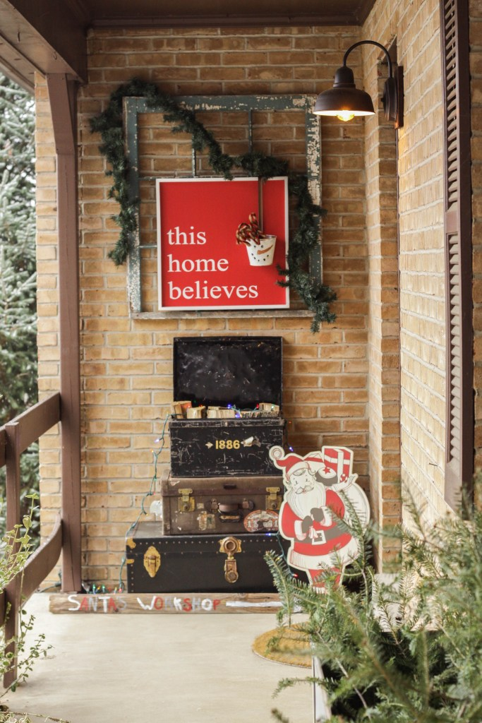 Christmas Porch Entry- Farmhouse Santa