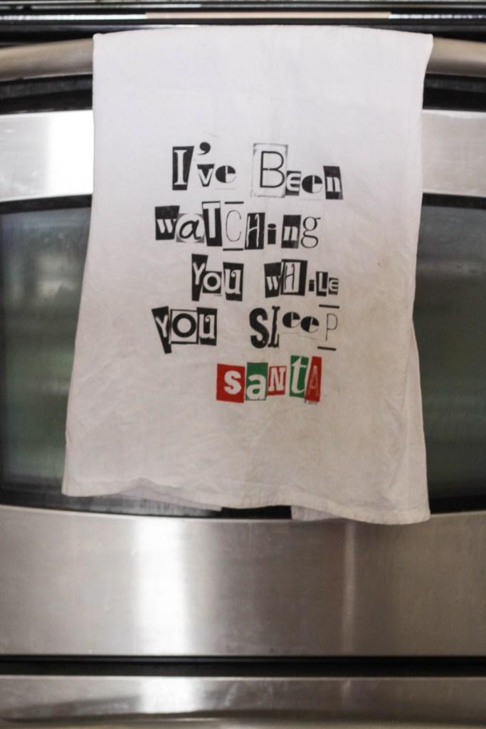 Humorous Christmas Dish Towel