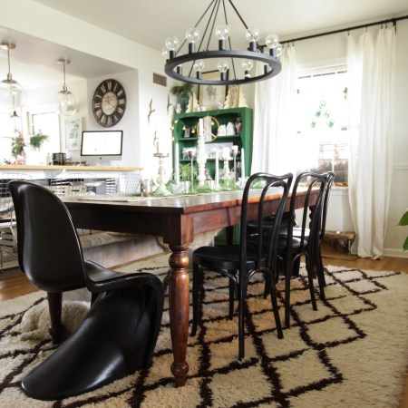 Eclectic Christmas Home Tour Part 2: Dining Room, Kitchen & Entry Hall