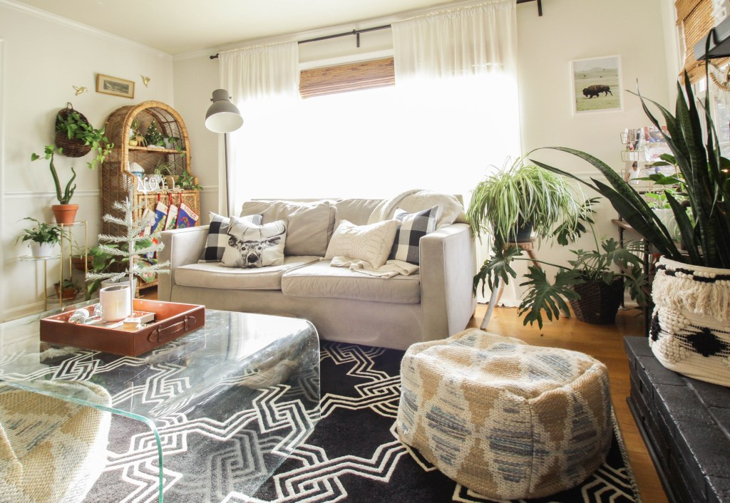 Eclectic Christmas Living Space