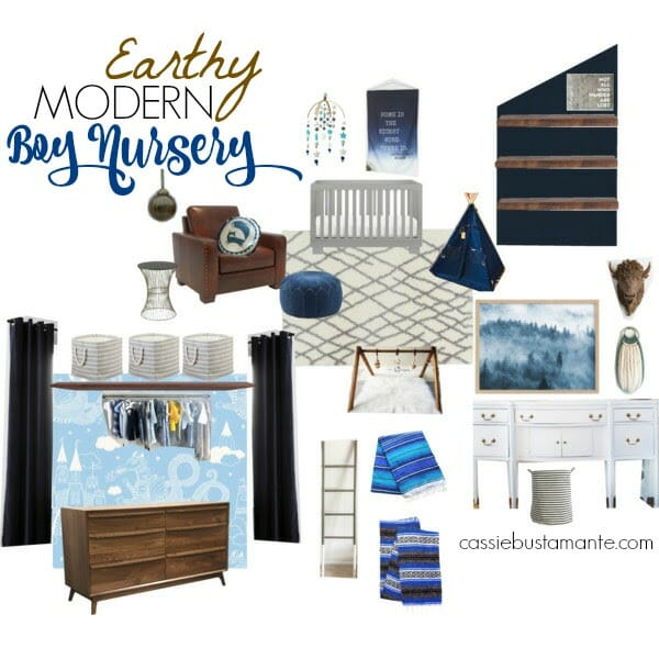 Earthy Modern Boy Nursery Design Plans