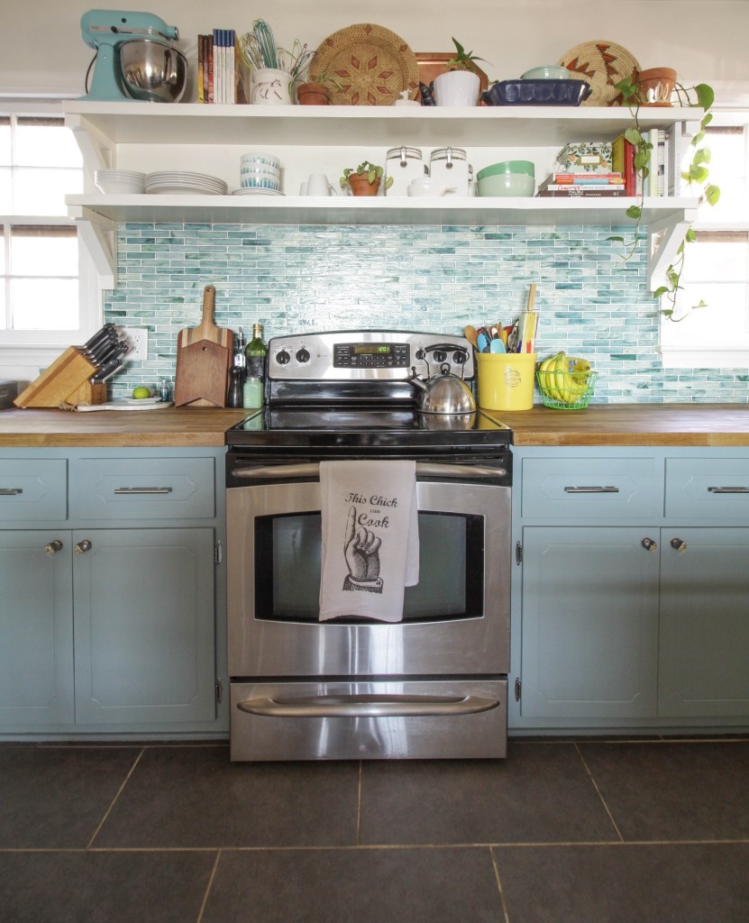Modern Farmhouse Mint Kitchen Makeover