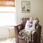 Nursery Progress: Leather Chair & Handmade Mobile