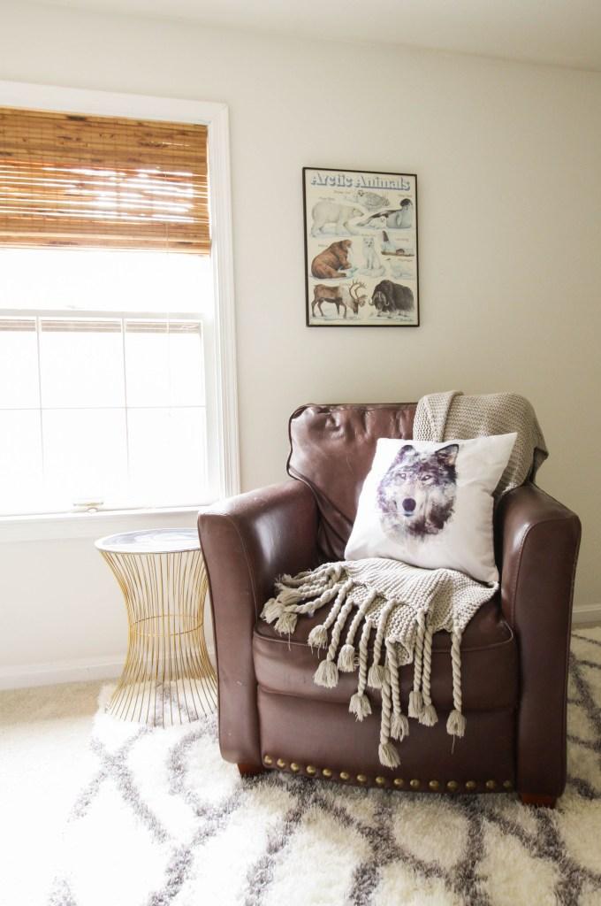 Cozy Leather Nursery Chair
