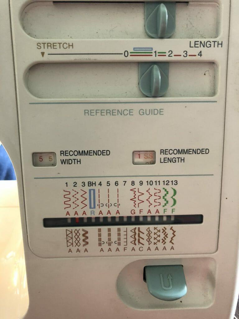 sewing machine zig zag setting