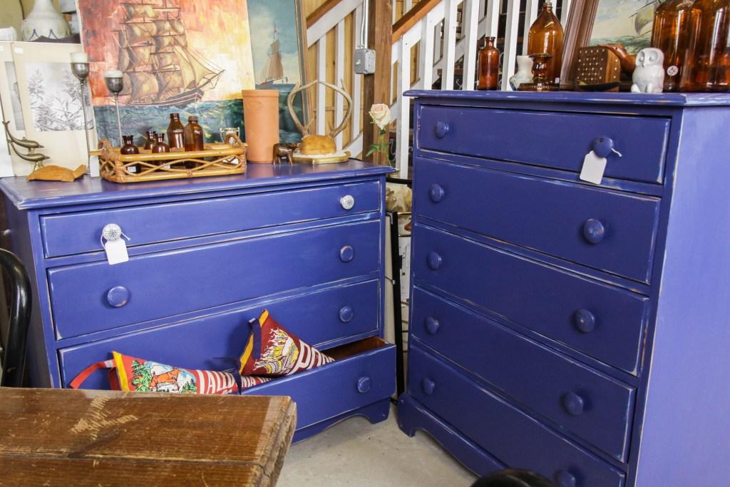 Cottage Blue Dresser Pair