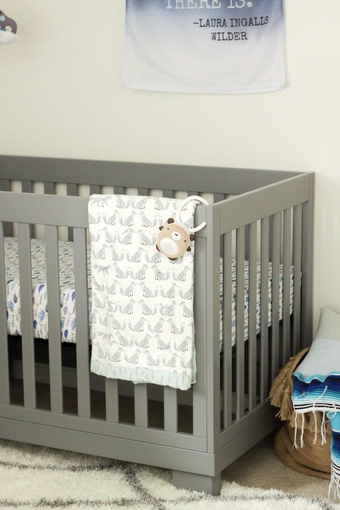 Babyletto Crib with Handmade fox blanket
