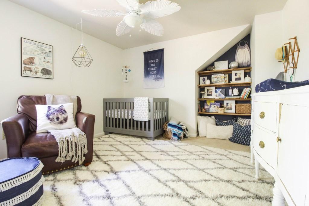 beautiful Blue Gray White Serene boys Nursery