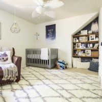 Serene Earthy Modern Vintage Boy's Nursery: Our Boy's Nursery Reveal