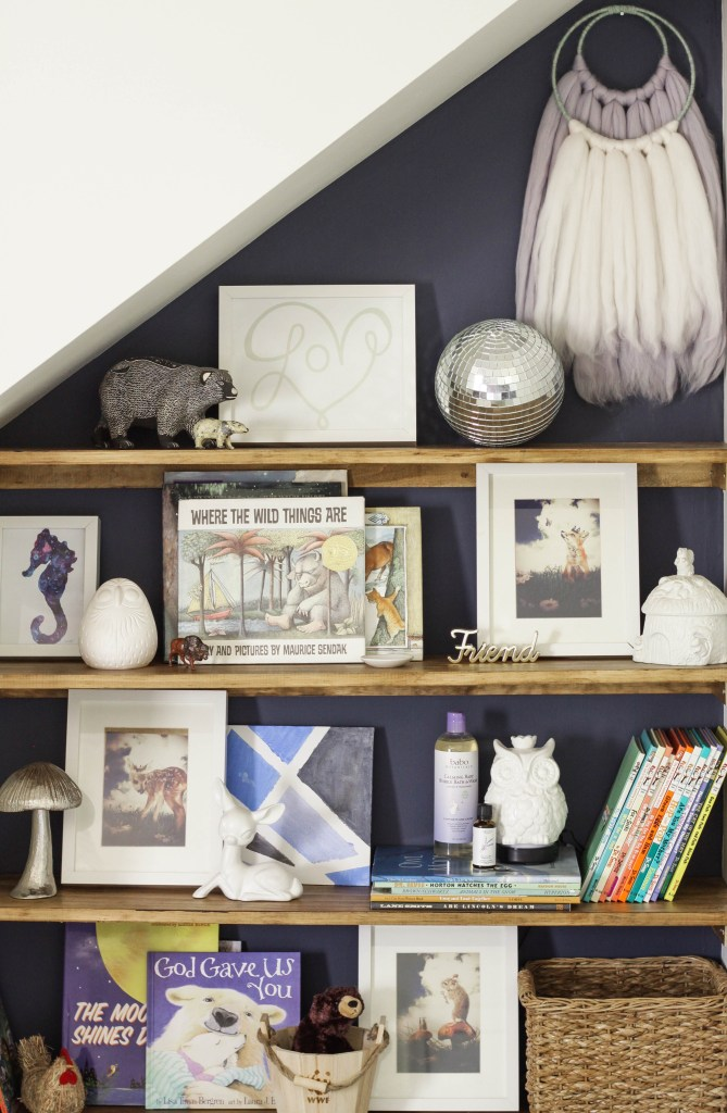 Nursery Bookshelf Nook