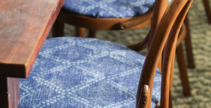 How to Reupholster Round Chair Seats