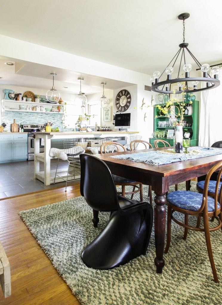 Dining Room Rug Refresh- making spaces flow