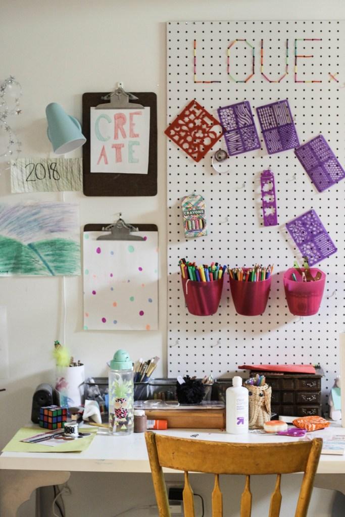 Playroom craft area for tween