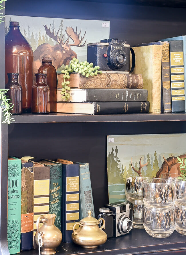 Blue and Green Vintage Shop Staging