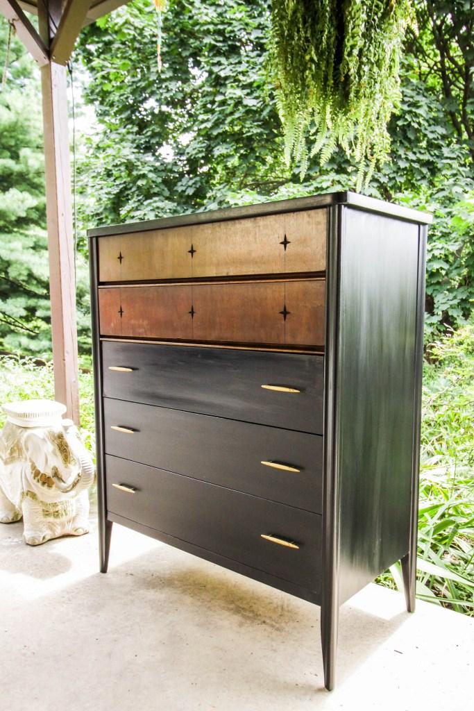 Black Wood Midcentury Furniture Flip