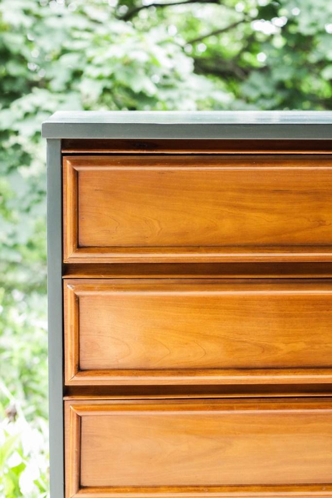 Teal and Wood Dresser Makeover DIY