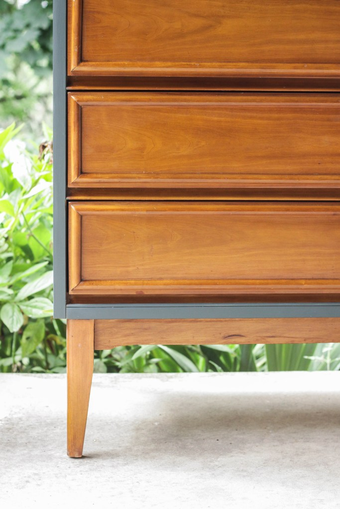 Teal & Wood Dresser Makeover with Gel Stain