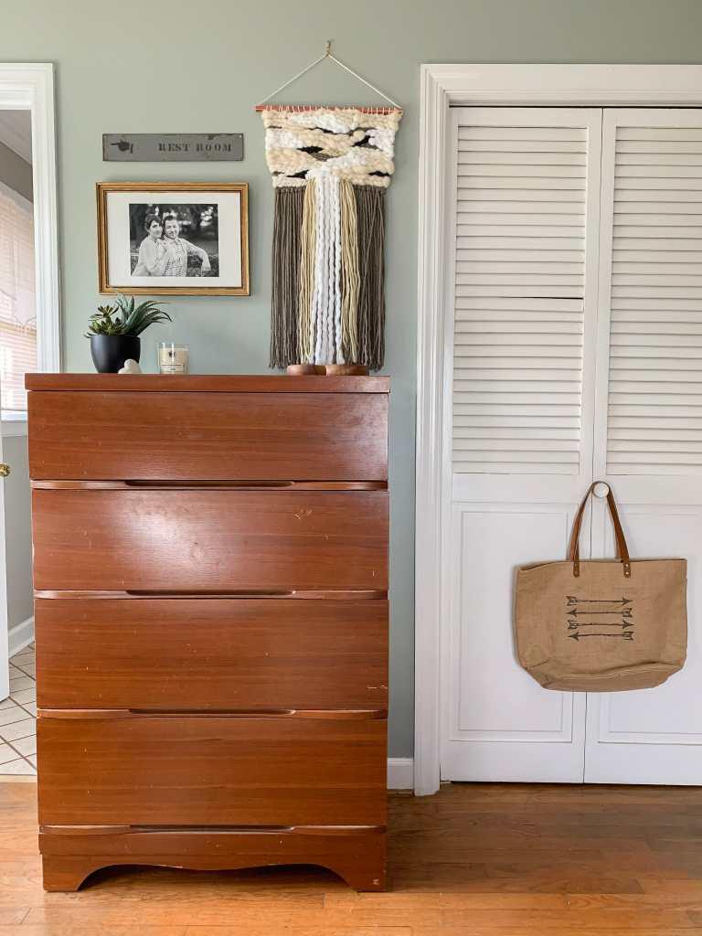 Midcentury Vintage Dresser vignette
