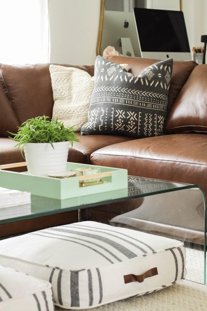 Modern Boho Living Room pillows
