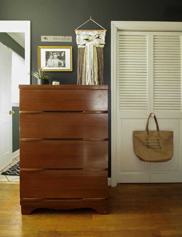 Black Eclectic Vintage Bedroom