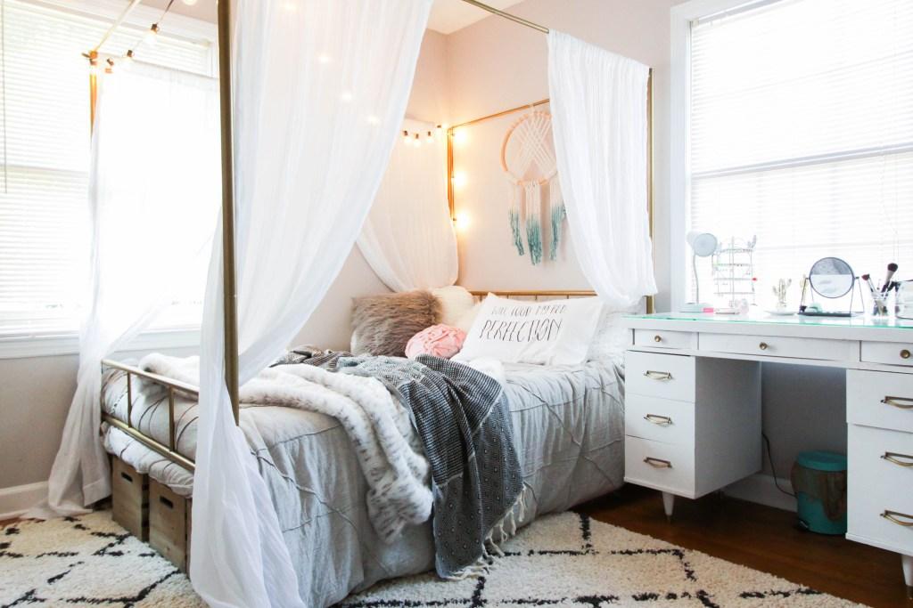 Teen Neutral Boho Bedroom