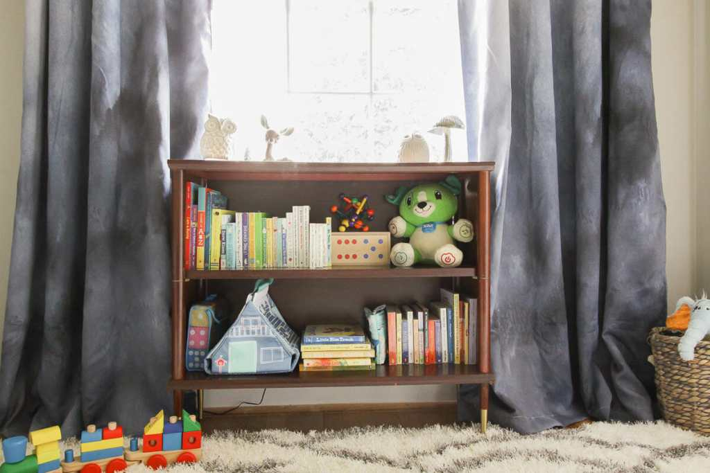 Midcentury Bookcase in Nursery