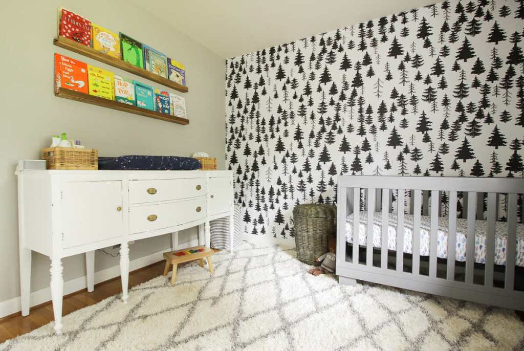 Gender Neutral Nursery Design with black and white and rainbow