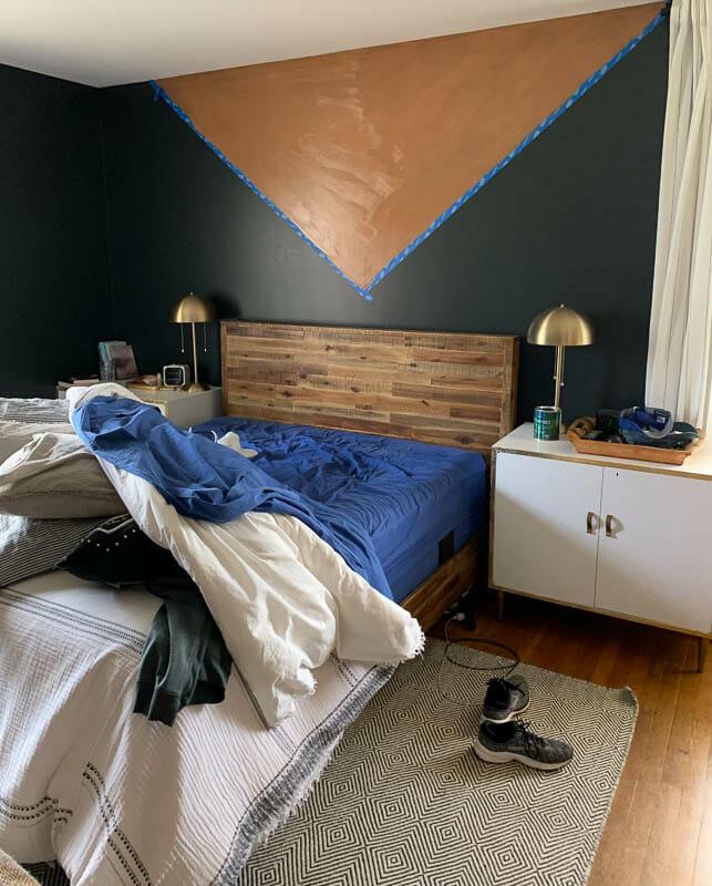 Color Block Walls Progress with Scotch Blue Platinum
