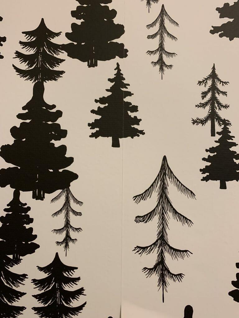 Hanging Temporary wallpaper DIY