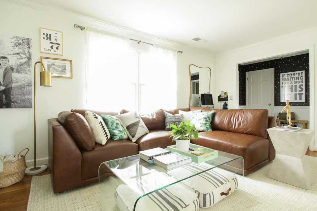Living Room Progress- Modern Boho with Star Stencil