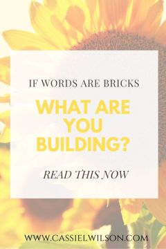 If words are bricks, what are you building? | Cassie L. Wilson - learning to be the light